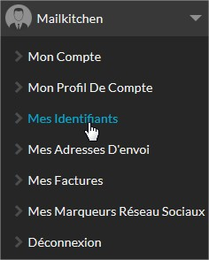 Menu - Mes Indentifiants